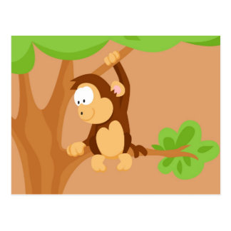 Monkey from my world animals serie postcard