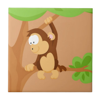 Monkey from my world animals serie tile