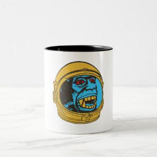 Monkey from Space Two-Tone Coffee Mug
