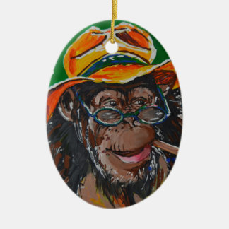 Monkey -Gentleman Christmas Ornament