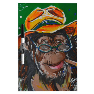 Monkey -Gentleman Dry Erase Board