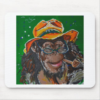 Monkey -Gentleman Mouse Mat