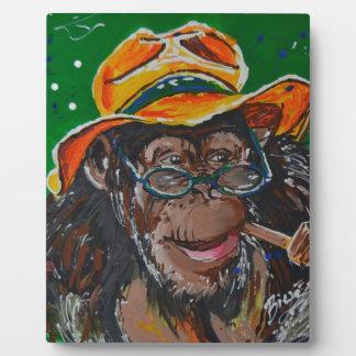 Monkey -Gentleman Plaque