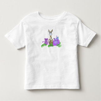 Monkey, Giraffe and Hippo Toddler T-Shirt