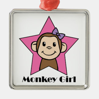 Monkey Girl Christmas Ornament