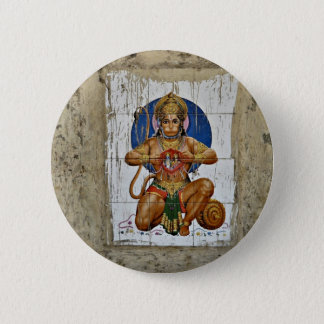 Monkey God 6 Cm Round Badge