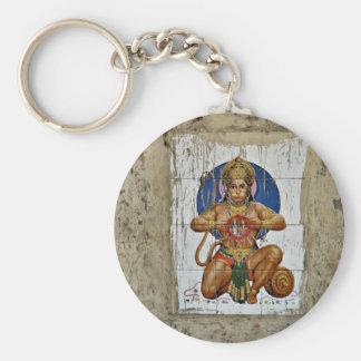 Monkey God Basic Round Button Key Ring