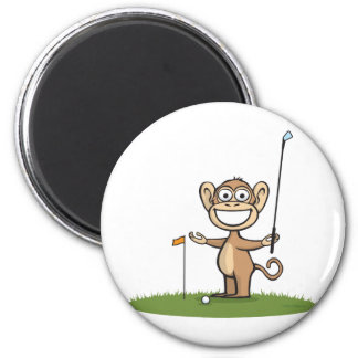 Monkey Golf Magnet