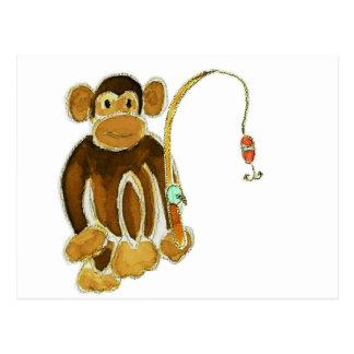 Monkey Gone Fishing Post Card