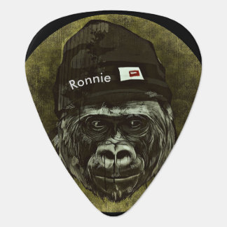 Monkey Gorilla Hat Cool Name Guitar Pick Monogram