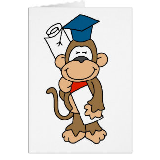 Monkey Graduate Tshirts and Gifts Card