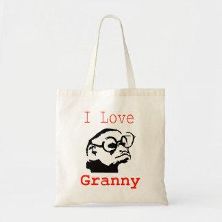Monkey granny tote bag