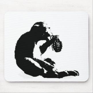 Monkey grenade mouse mat