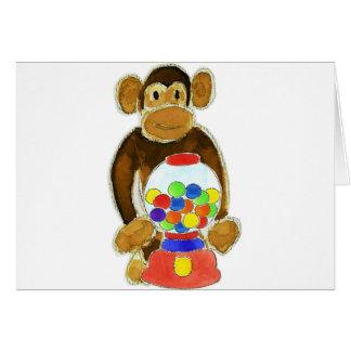 Monkey Gumball Machine Greeting Card