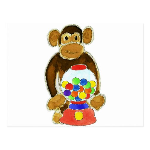Monkey Gumball Machine Post Cards