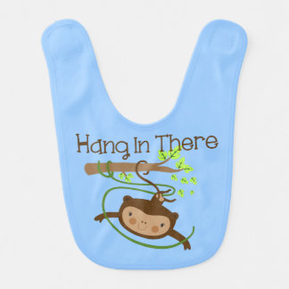 Monkey Hang in There Bibs