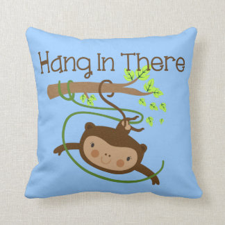 Monkey Hang in There Cushion