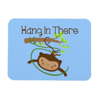 Monkey Hang in There Magnet