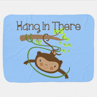 Monkey Hang in There Swaddle Blankets