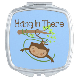 Monkey Hang in There Travel Mirrors