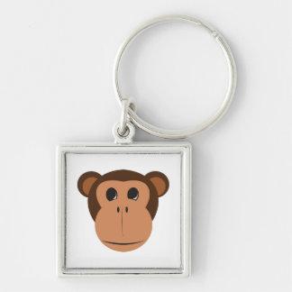 Monkey head cartoon keychain