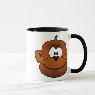 Monkey head cartoon mug