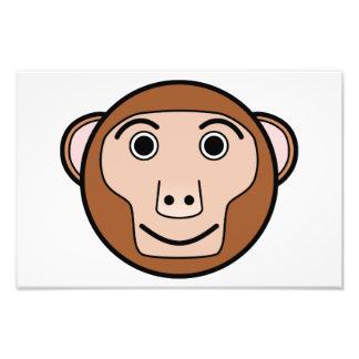 Monkey head cartoon photo