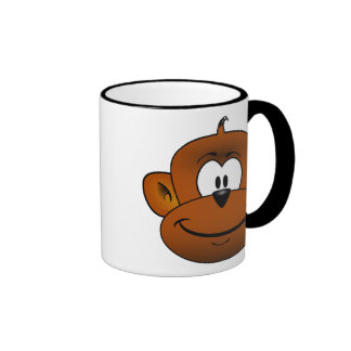 Monkey head cartoon ringer mug
