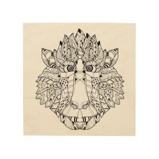 Monkey Head Doodle 5 Wood Prints