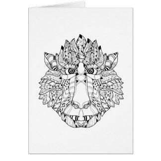 Monkey Head Doodle Card