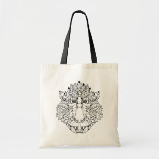 Monkey Head Doodle Tote Bag