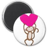 Monkey Heart Refrigerator Magnet