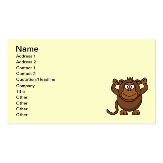 monkey-hi1 business card template