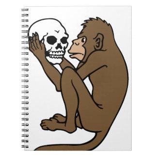 Monkey Holding A Skull Notebook
