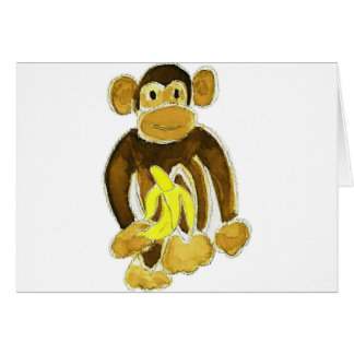 Monkey Holding Banana Cards
