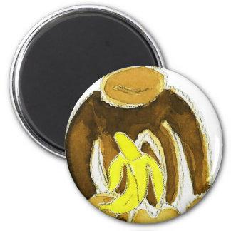 Monkey Holding Banana Magnet