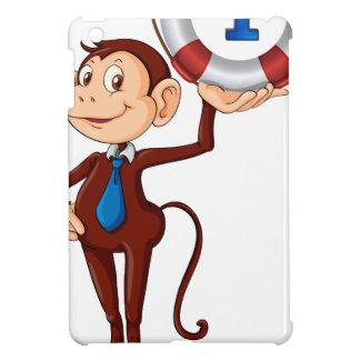 monkey holding float iPad mini case