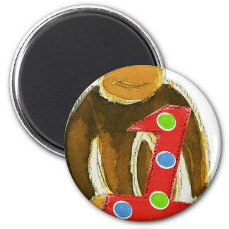 Monkey Holding One Magnets