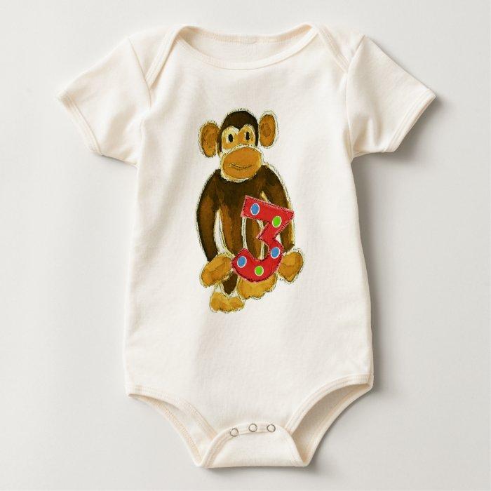 Monkey Holding Three Baby Bodysuit