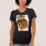 Monkey Holding Three Tee Shirt