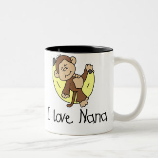 Monkey I Love Nana Two-Tone Mug