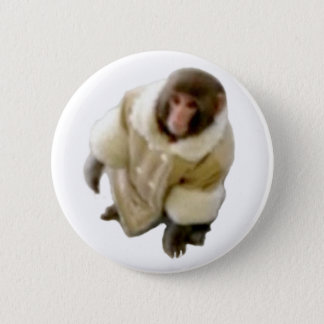 monkey ikea 6 cm round badge