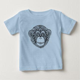 Monkey Illustartion Doodle Baby T-Shirt