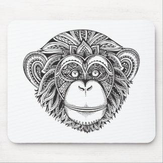 Monkey Illustartion Doodle Mouse Mat