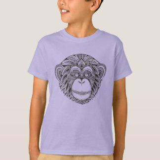 Monkey Illustartion Doodle T-Shirt