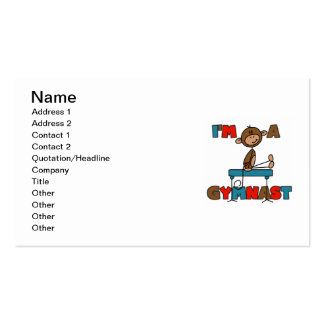 Monkey I'm a Gymnast Pack Of Standard Business Cards