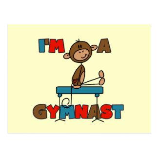 Monkey I'm a Gymnast Postcard