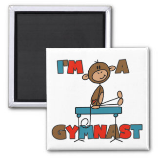 Monkey I'm a Gymnast T-shirts and Gifts Magnet