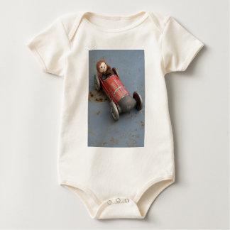 Monkey in a toy car baby bodysuit