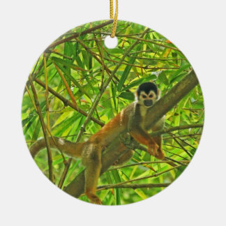Monkey in Bamboo Jungle Christmas Ornament